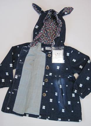 Детская джинсовая куртка на девочку lyr2 фото