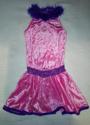 Платье купальник для танцев велюр