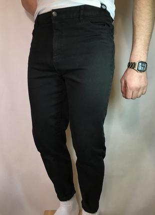 Чёрные зауженные джинсы m&s