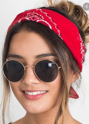 Платок бандана красный платочек бант лента для волос на сумку топ-качество новый