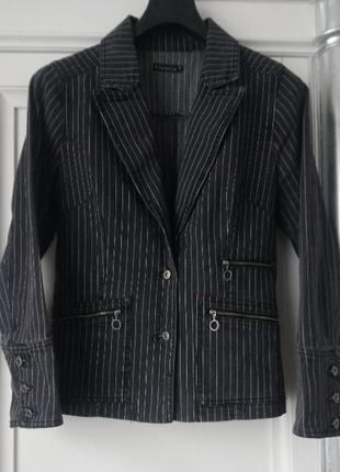 Clara&co джинсовый женский пиджак