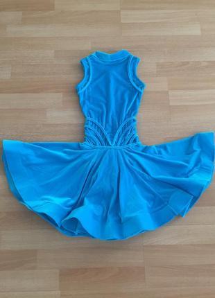 Бирюзовое платье-бейсик для спортивно-бальных танцев!