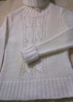 """Новый очень теплый свитер\гольф """" h&m""""  шерсть\мохер"""