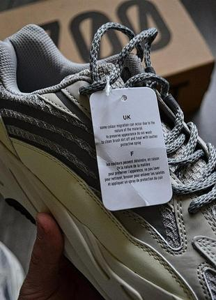 Adidas yeezy boost 700 v2 static шикарные мужские кроссовки адидас6 фото
