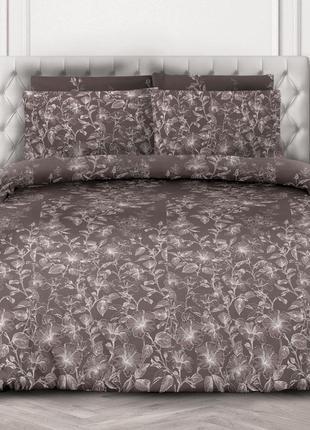 Гибискур шоколадный - натуральное постельное белье из перкаля