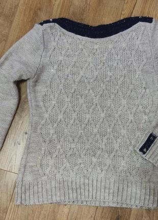 Вязаный свитер свитшот кофта кофточка турция полушерсть