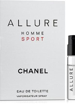Пробник chanel allure homme sport, edt, 1,5 ml, оригинал.