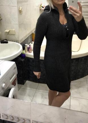 Old navy платье с капюшоном , шерсть ягнёнка