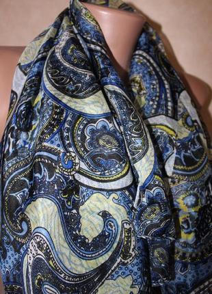 Большой шелковый платок,в узор турецкий огурец