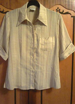 Легкая летнняя женская блузка, кофта горчичного цвета. размер-46 l