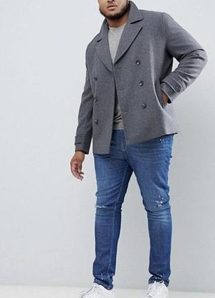 Стильное демисезонное пальто  бушлат большого размера