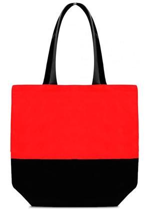 Женская эко-сумка шоппер deep красная