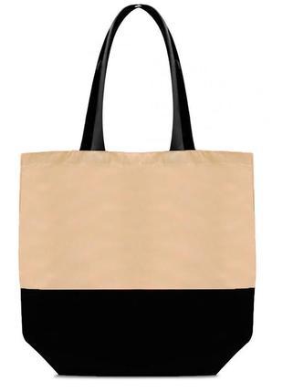 Женская эко-сумка шоппер deep бежевая