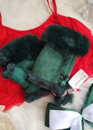 Стильні мінєтки рукавички без пальчиків трендового кольору wyestyles