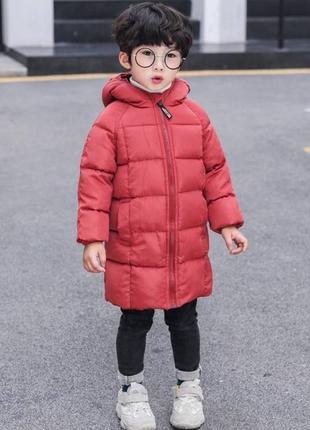 Зимове пальто бордо