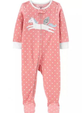 Слипер флисовый на девочку carter's человечек пижама