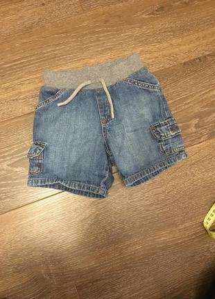 Стильные шорты из легкого коттона1 фото