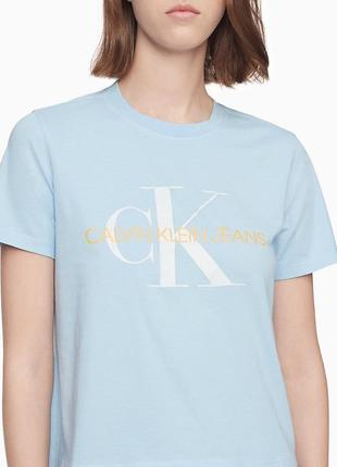 Женская футболка calvin klein оригинал размер л l лого