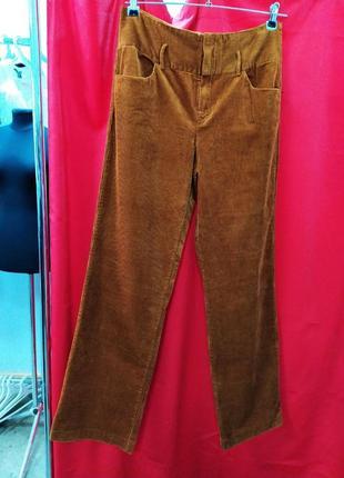Широкие вельветовые брюки zara