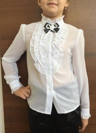 Распродажа блуза школьная 122-152