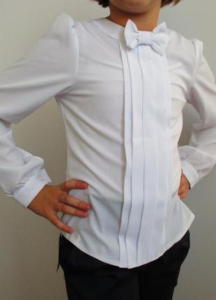 Блуза школьная софт кольцо 140, 158