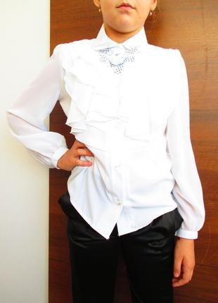 Распродажа блуза школьная белая