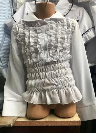 Распродажа блуза школа школьная шифон