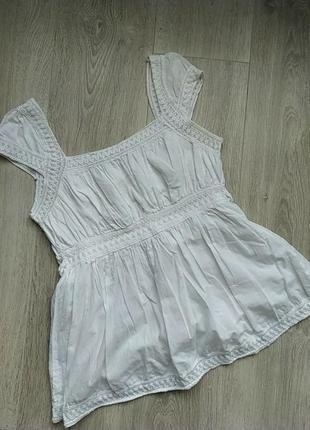 Топ блузка  на завязках нежная белая блузка