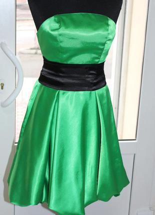 Коктейльное платье корсетное зеленое, размер универсальный 42-44-46 снизили цену