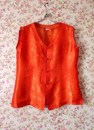 Шелковая накидка-блуза в японском стиле