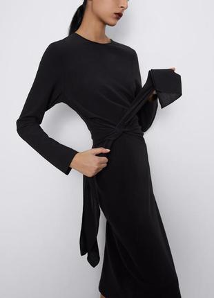 Zara платье с узлом, шерсть, s, m, l