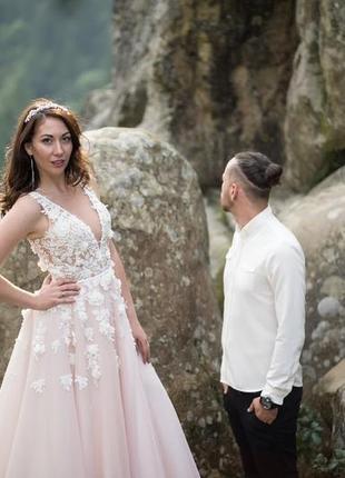 Crystal весільна сукня свадебное платье + подарунок (фата нова)