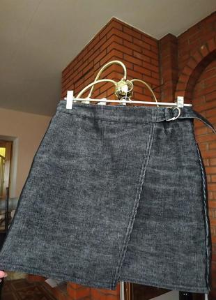 Велюровая юбка трапеция
