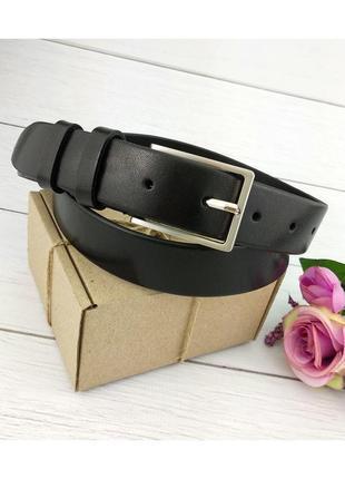 Женский кожаный ремень jk-3040 black (3 см)