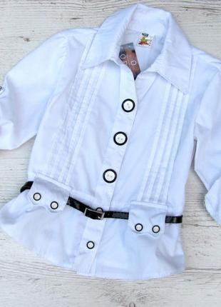 Р.128-146 детская школьная блузка. хлопок.