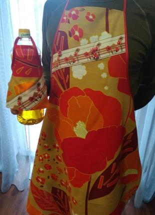 Фартук + фартушек на бутылку