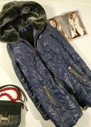 Зимняя куртка с мехом пуховик