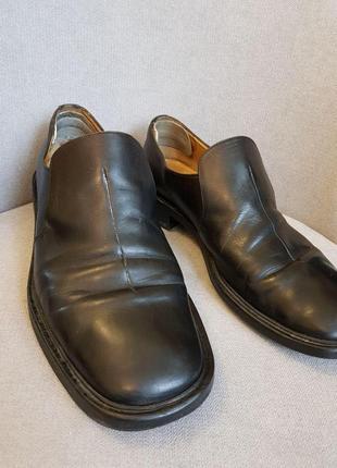 Туфли ортопедические кожаные, разница высоты подошвы 1см (patrick cox)