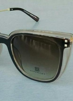 Givenchy очки женские солнцезащитные коричнево бежевые