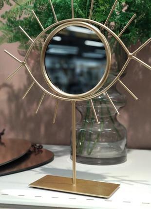 Зеркало декоративное в форме глаза dar 21х25см с металлической основой