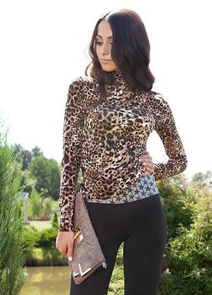 Леопардовый гольф с гипюром