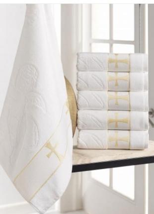 Полотенце для крещения, крыжма. полотенце велюр/махра жаккардовые, крыжма. есть размеры