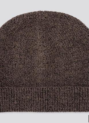 Uniqlo вязаная шапка в составе шерсть