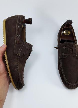 Geox топсайдеры мокасины с натуральной кожи туфлі шкіряні класичні броги 44 45