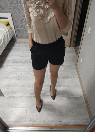 Стильные шорты высокая посадка в офис и на каждый день