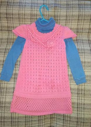 Весеннее платье - сарафан ( трикотаж одежда ) на девочку 2 - 3 года 18 - 24 месяца