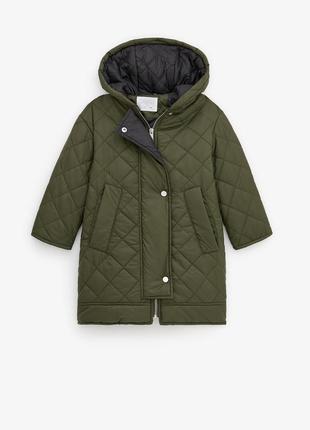Стеганная курточка-пальто zara