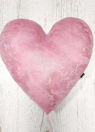 Подушечка сердце розовое