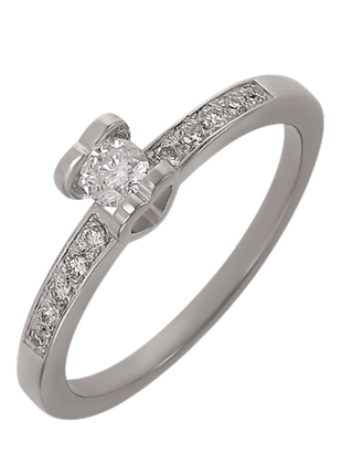 Бриллиантовое кольцо белое золото 585, бриллиант хитовая помолвочная модель! видео