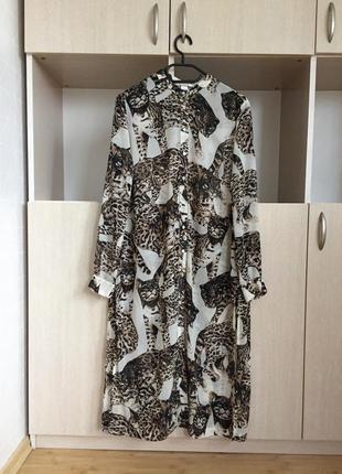 H&m длинная рубашка с котами